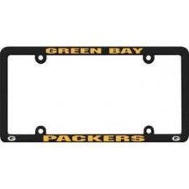 ed9cc576366 Green Bay Packers Black plastic license plate frame