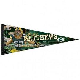 Green Bay Packers Clay Matthews felt pennant