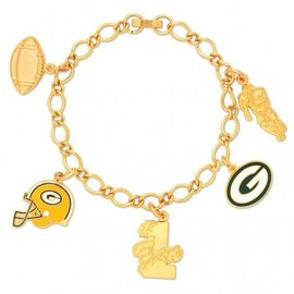 Green Bay Packers Gold Charm Bracelet