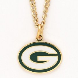 Green Bay Packers Gold Necklace with G