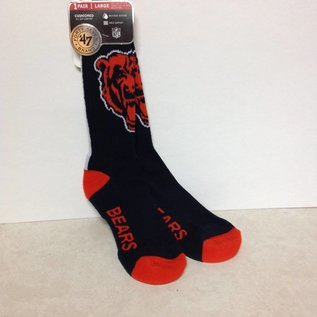 Chicago Bears Bolt Socks Size Large