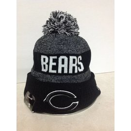 Chicago Bears Black & White Cuffed Knit