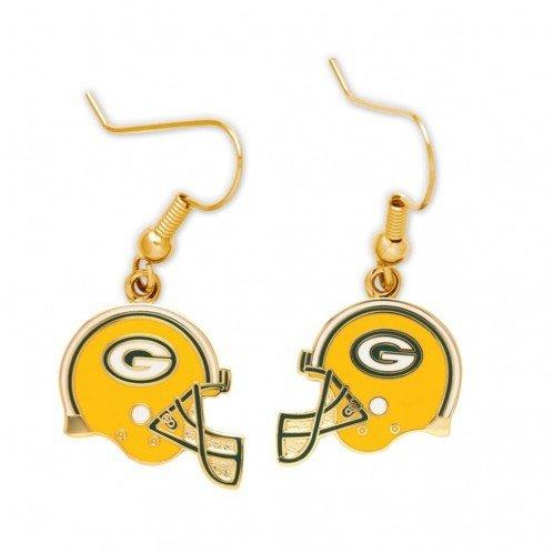 Green Bay Packers Helmet Dangle Earrings