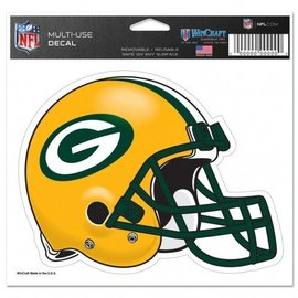 Green Bay Packers Multi-use Colored Helmet Decal 5x6