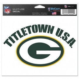 Green Bay Packers multi-use colored decal 5x6-Titletown USA