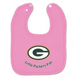 Green Bay Packers Pink Baby Bib