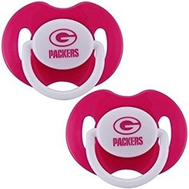 Green Bay Packers pink pacifiers - 2 pack