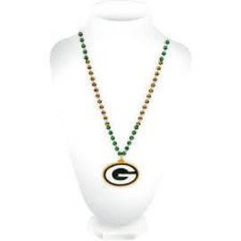 Green Bay Packers sports beads with G medallion