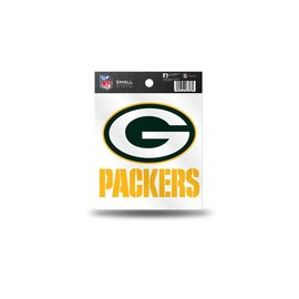 Green Bay Packers static cling small - G & Packers