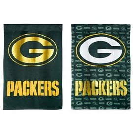 Green Bay Packers Suede Glitter Banner Flag