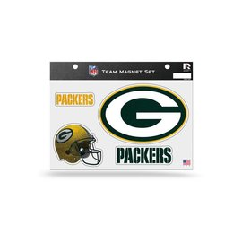 Green Bay Packers team magnet sheet - 4 pack