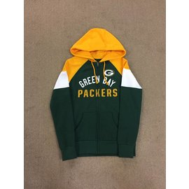 Green Bay Packers Women's Hot Route Full Zip Hoodie