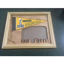 Green Bay Packers Wood 4x6 Picture Frame with Pennant
