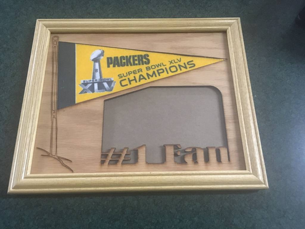 Green Bay Packers Wood 4x6 Picture Frame with Pennant - Packerland Plus