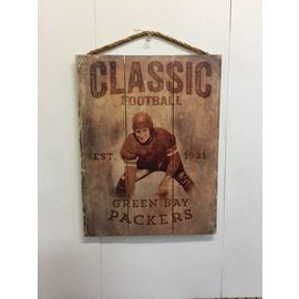 Green Bay Packers Wood Sign-Classic Football