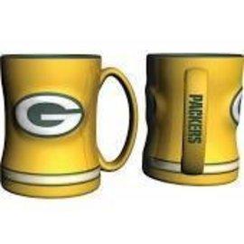 Green Bay Packers 14 oz Yellow Relief Coffee Mug