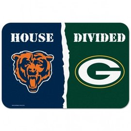 "House Divided 20""x30"" small mat: Green Bay Packers versus Chicago Bears"