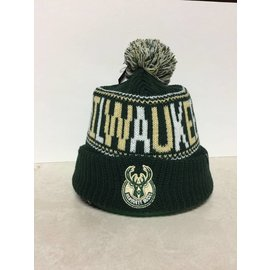 Milwaukee Bucks Jumble Cuff Knit with Pom