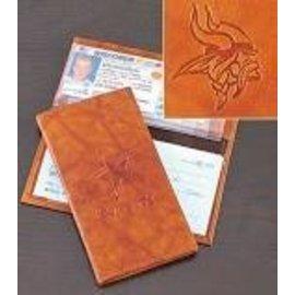 Minnesota Vikings leather checkbook cover