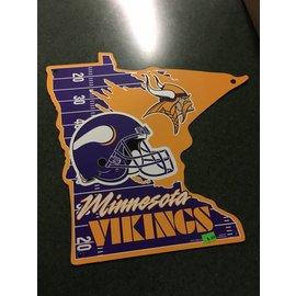 Minnesota Vikings State Shaped Sign