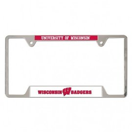 Wisconsin Badger metal license plate frame