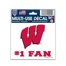 WinCraft, Inc. Wisconsin Badgers #1 fan decal