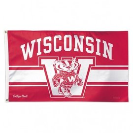 Wisconsin Badgers 3x5 Flag - Bucky in Front of W