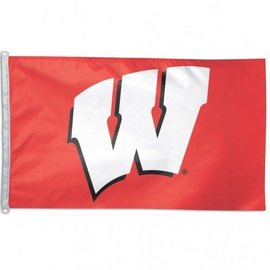 Wisconsin Badgers 3x5 Flag - Red with White W