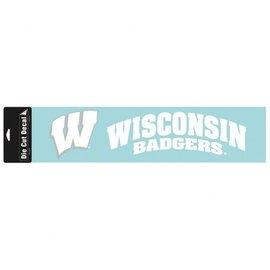 Wisconsin Badgers 4x16 white decal
