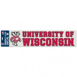 Wisconsin Badgers 4x17 Perfect Cut Decal