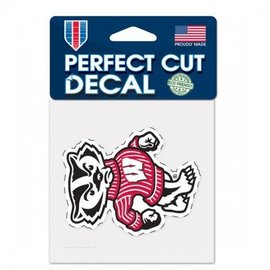 Wisconsin Badgers 4x4 Perfect Cut Decal - Bucky