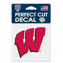 Wisconsin Badgers 4x4 Perfect Cut Decal - W