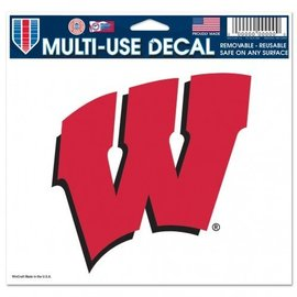 Wisconsin Badgers 5x6 Multi-Use Decal - W