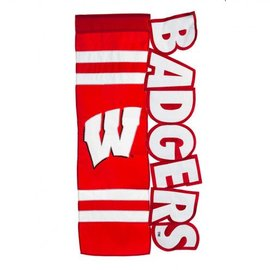 Wisconsin Badgers Applique Letters House Banner Flag