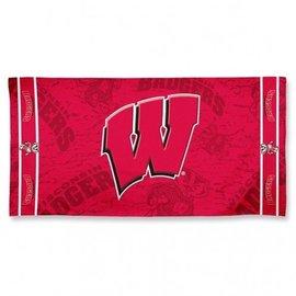 Wisconsin Badgers beach towel