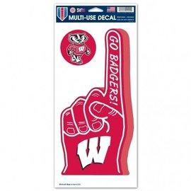 Wisconsin Badgers Big #1 Finger Decal
