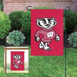 Wisconsin Badgers Garden Flag with Bucky