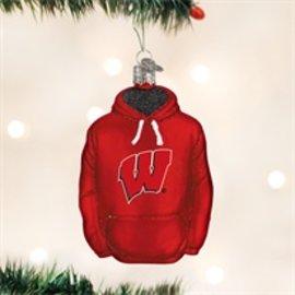 Wisconsin Badgers Hoodie Ornament