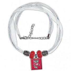 Wisconsin Badgers Lifetile Necklace - Bucky