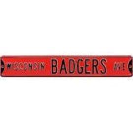 Wisconsin Badgers Metal Avenue Sign