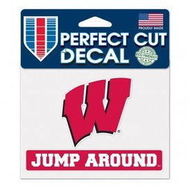 Wisconsin Badgers Perfect Cut Decal - Jump Around