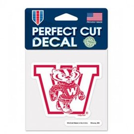WinCraft, Inc. Wisconsin Badgers Perfect Cut Decal 4x4 - Vault logo
