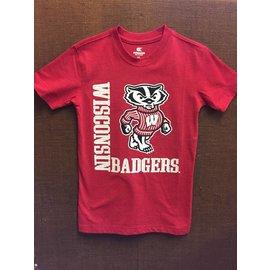 Wisconsin Badgers Red Short Sleeve Tee