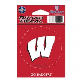 WinCraft, Inc. Wisconsin Badgers Round Decal