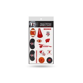 Wisconsin Badgers Team Tattoo Variety Pack