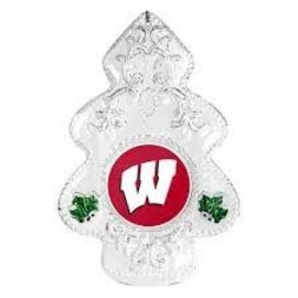 Wisconsin Badgers Traditional Clear Tree Ornament