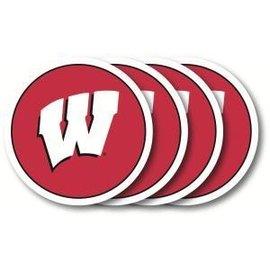 Wisconsin Badgers vinyl coasters - set of 4
