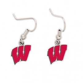Wisconsin Badgers W Dangle Earrings