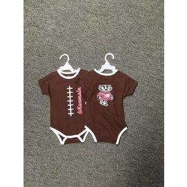 Wisconsin Badgers youth brown football onesie