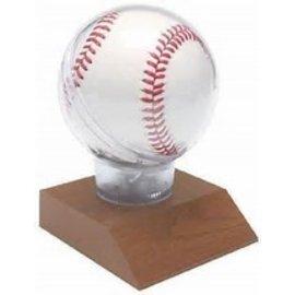Wooden Base Baseball Holder